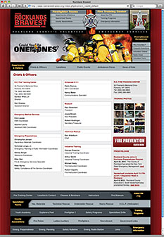 Canned Fire Volunteer Firefighter Recruitment and Retention Campaigns - Rocklands Bravest web site