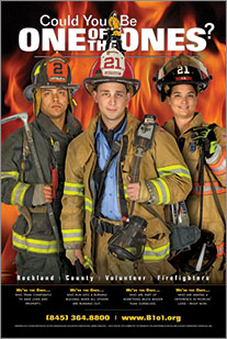 Canned Fire Volunteer Firefighter Recruitment and Retention Campaigns - Poster - Youth