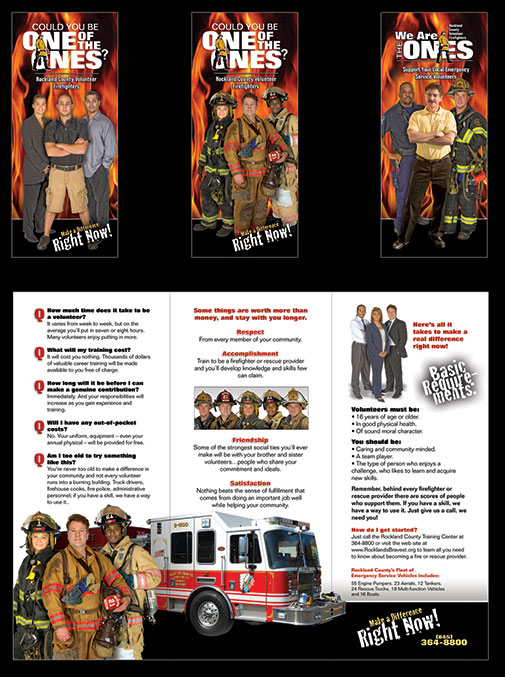 Canned Fire Volunteer Firefighter Recruitment and Retention Campaigns - Brochures